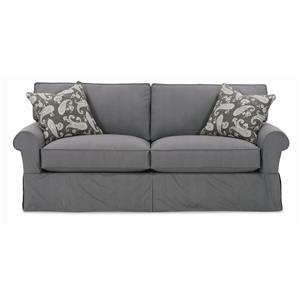 "Rowe Nantucket  84"" Two Cushion Slipcover Sofa"