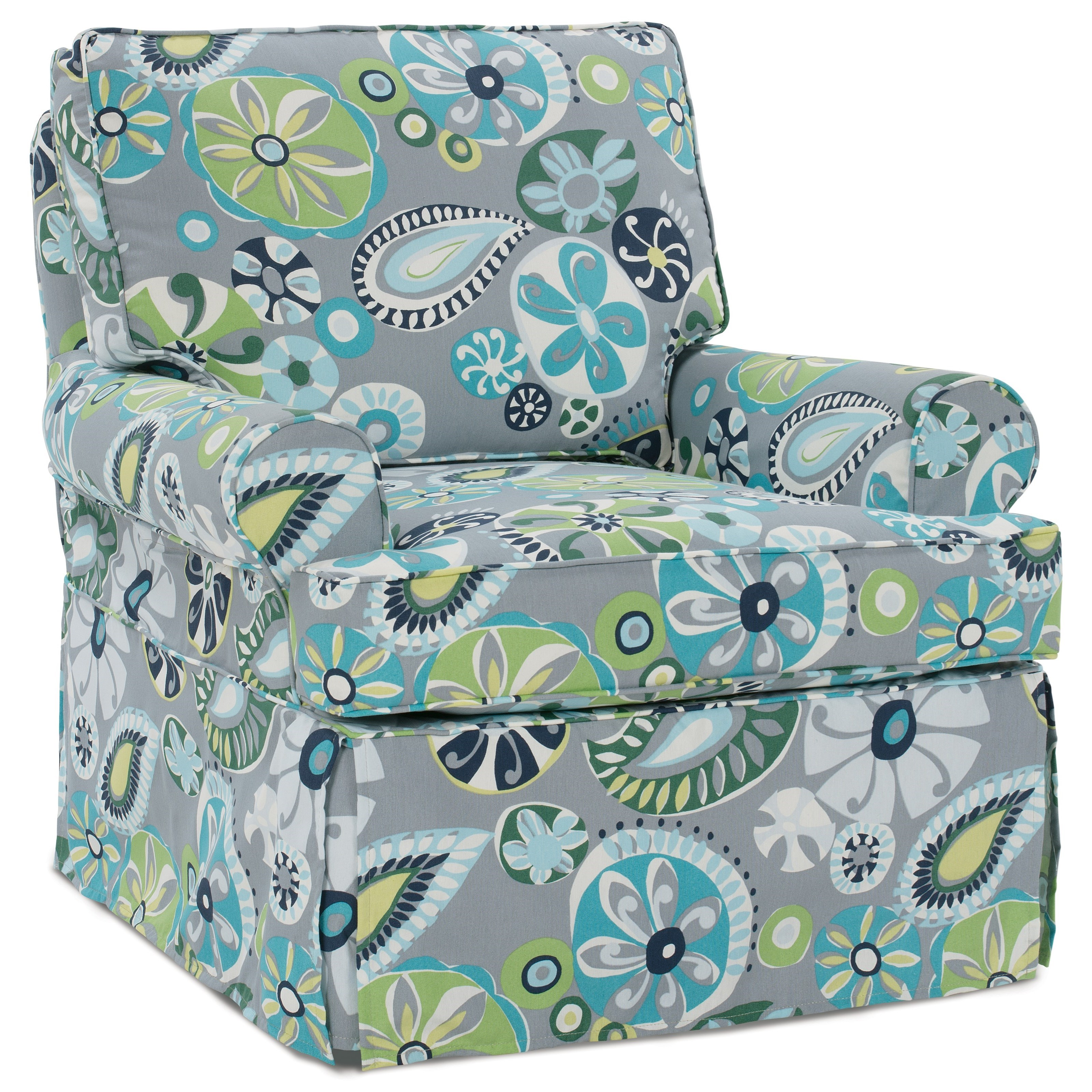 Rowe Nantucket A914 000 Swivel Glider With Slipcover