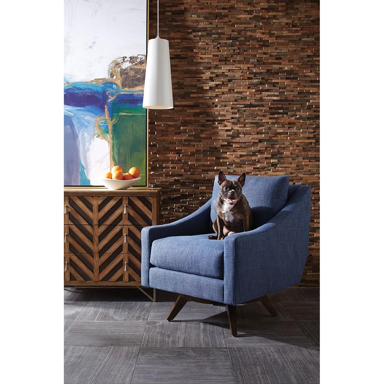 Rowe Nash Contemporary Swivel Chair Belfort Furniture