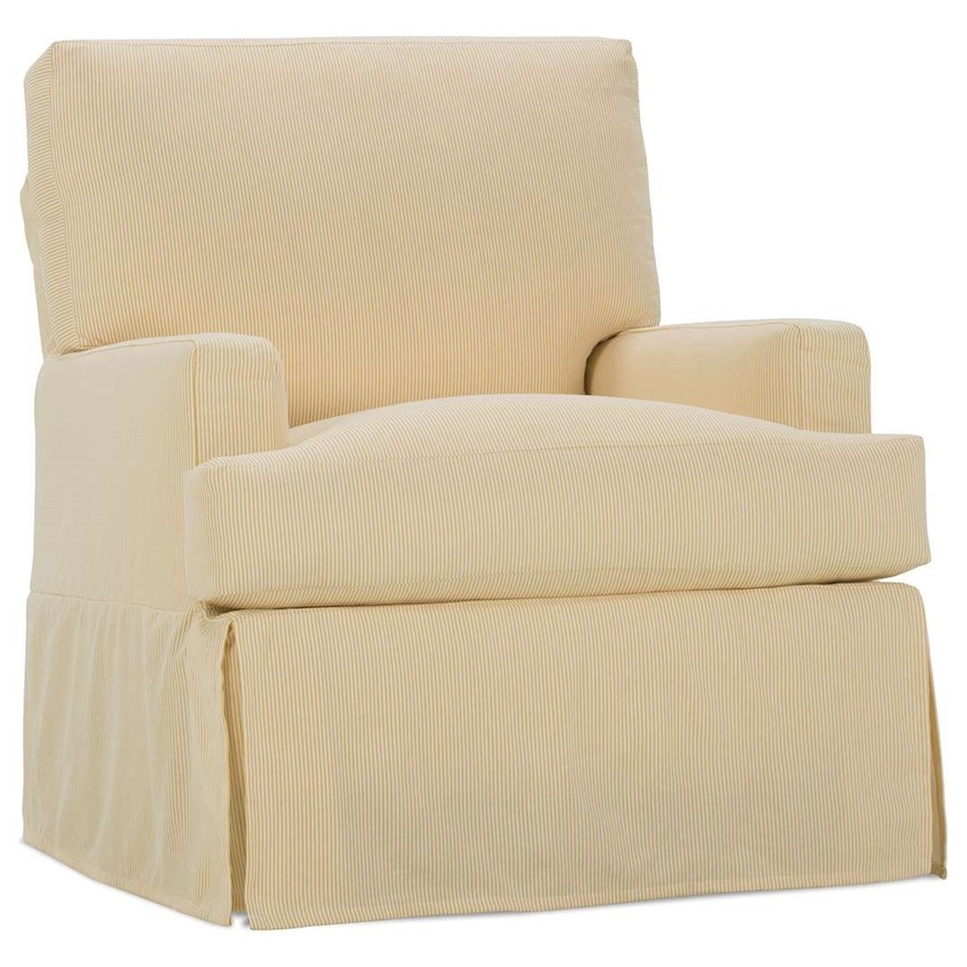 Rowe Sadie Casual Small Swivel Glider Chair With Slipcover
