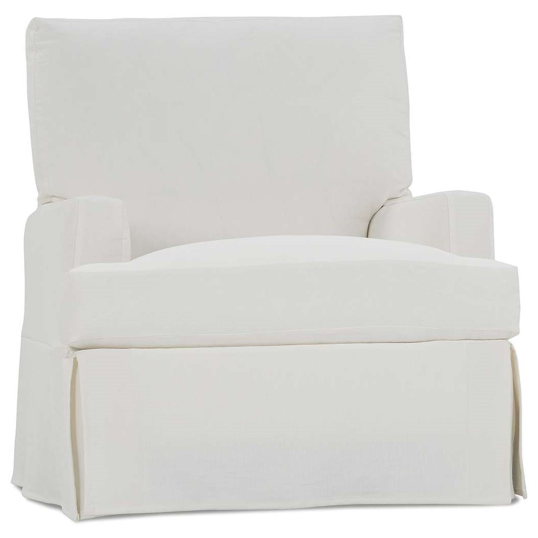 Rowe Sadie Casual Large Swivel Glider Chair With Slipcover