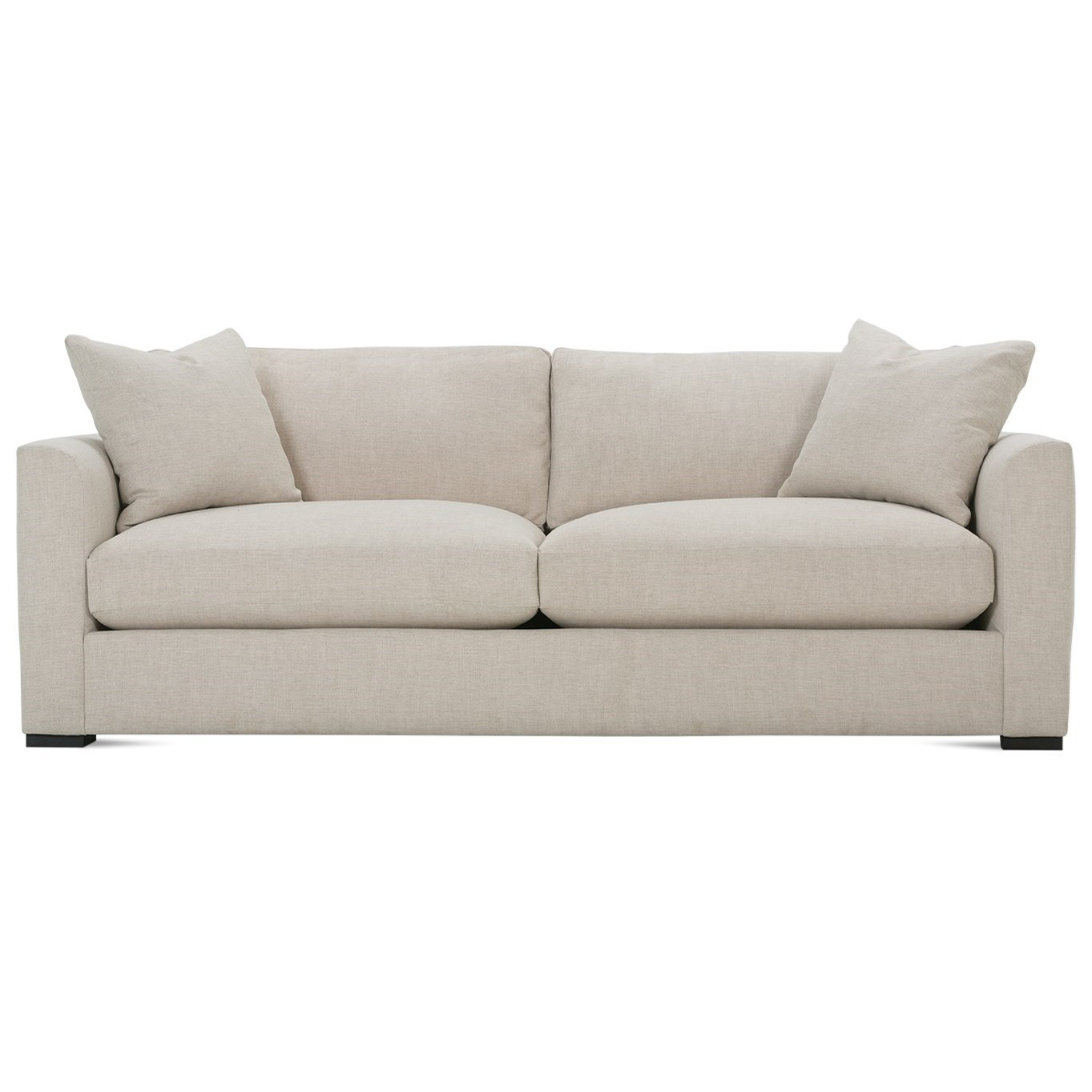 Rowe Derby Transitional Sofa With Tapered Arms Reeds