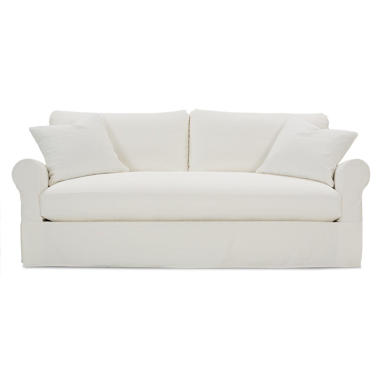 Rowe Aberdeen Transitional Sofa With Rolled Arms And