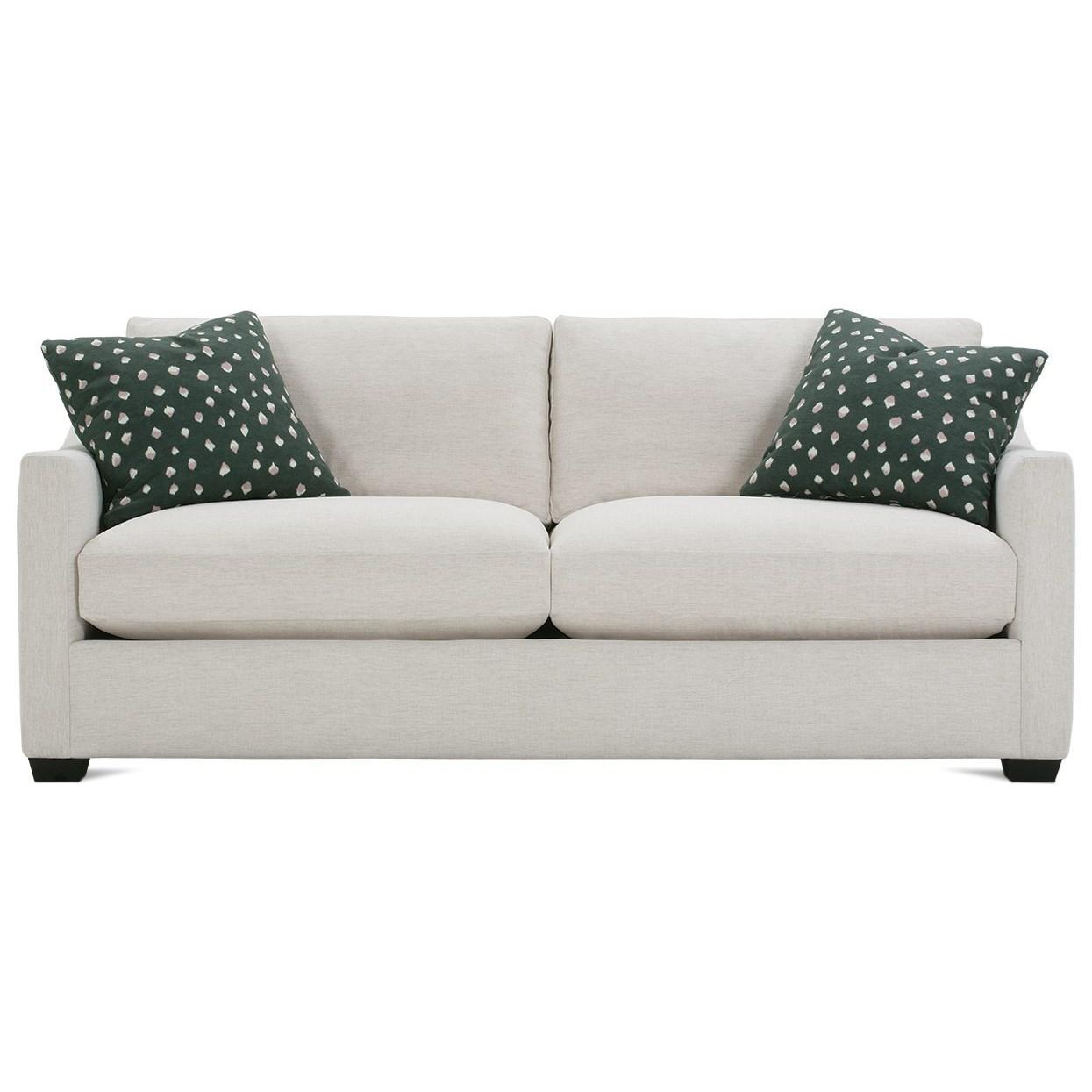 Loose Pillow Back Sofa: Rowe Bradford Transitional Sofa With Loose Pillow Back