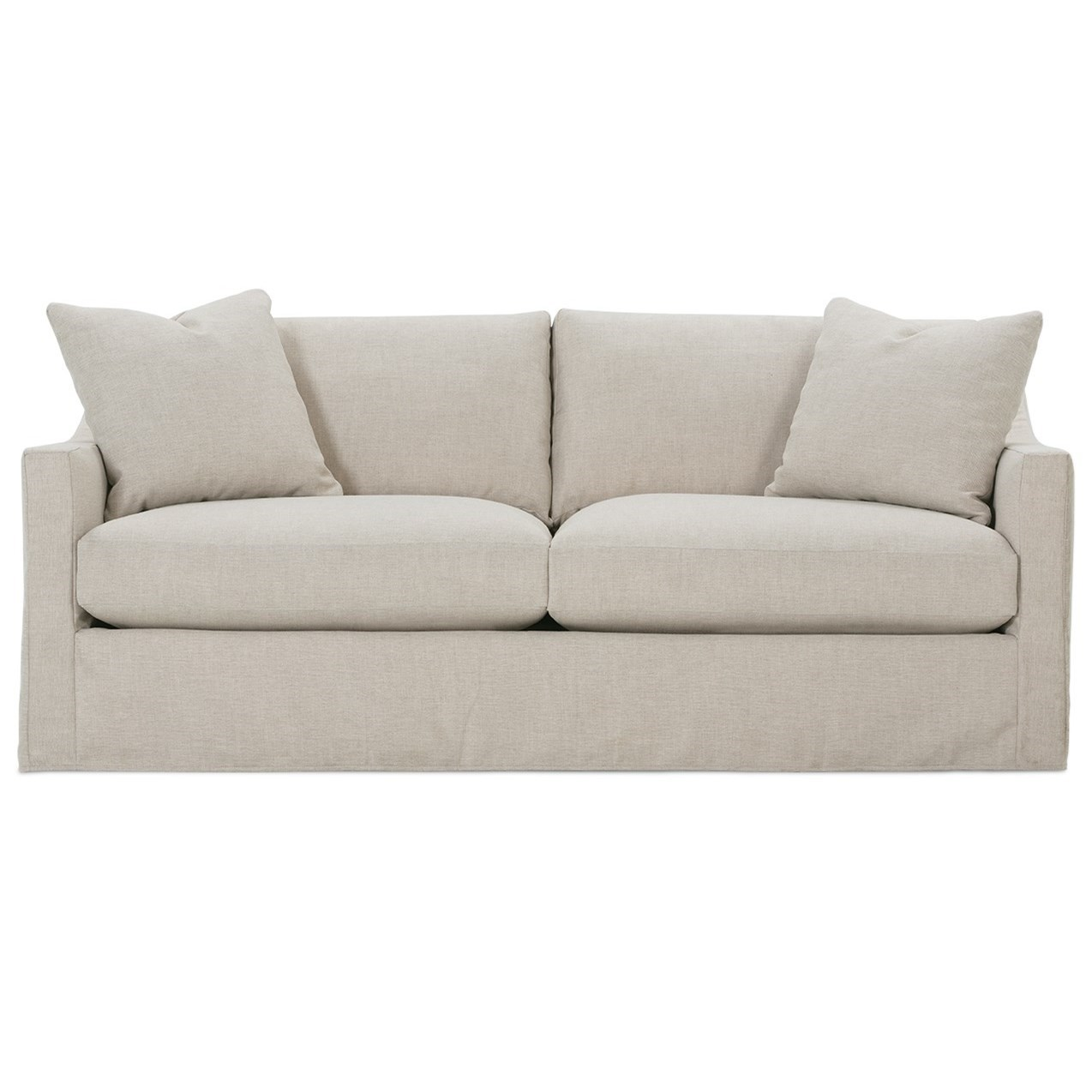 Rowe Bradford Transitional Sofa With Loose Pillow Back And