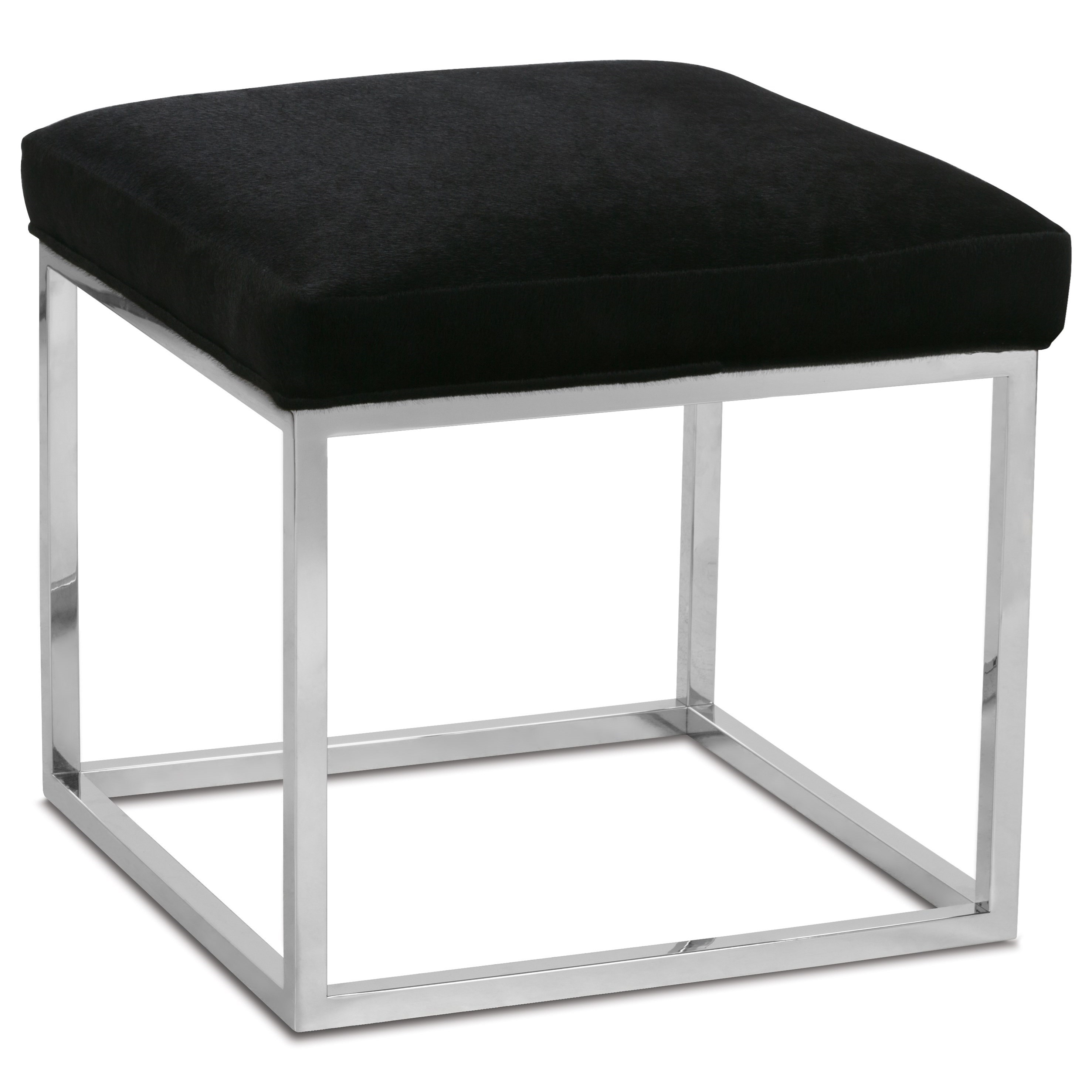 Rowe Percy Contemporary Accent Cube Ottoman With Metal
