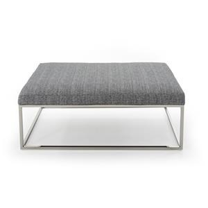 Rowe Percy Cocktail Table Ottoman w/ Chrome Finish