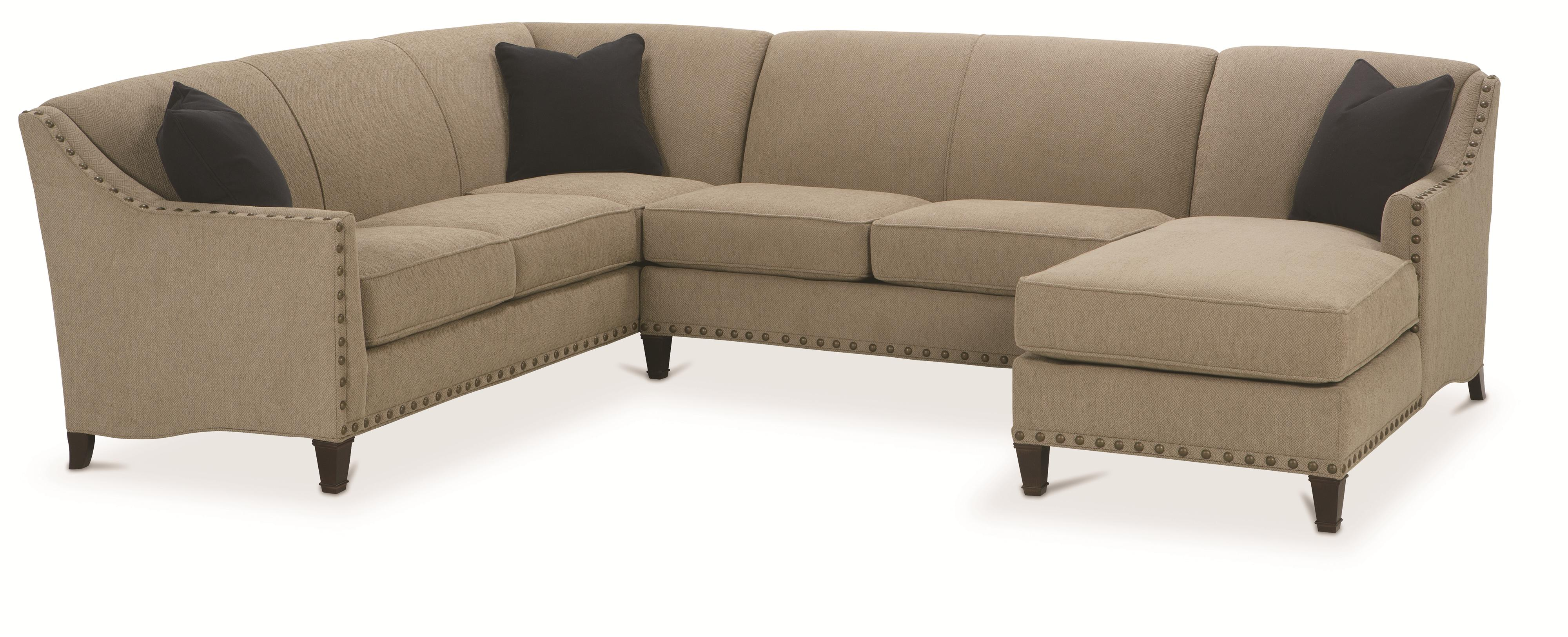 Rowe Rockford Traditional 3 Piece Sectional With Chaise   AHFA   Sofa  Sectional Dealer Locator