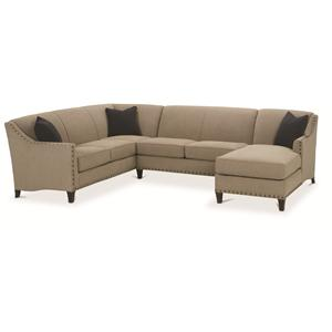 Rowe Rockford Traditional 3 Piece Sectional