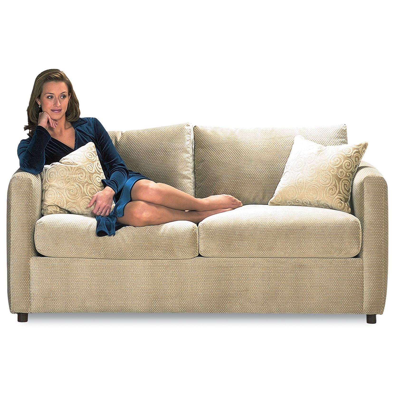 Rowe Stockdale Contemporary Two Cushion Full Sleeper Sofa