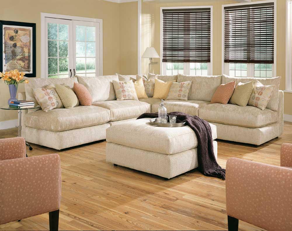 Rowe Tempo Six Piece Armless Sectional Sofa With Ottoman   AHFA   Sofa  Sectional Dealer Locator