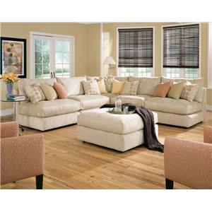 Rowe Tempo Armless Sectional Sofa