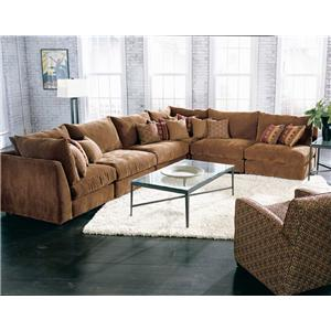 Rowe Tempo Semi-Armless Secitonal Sofa