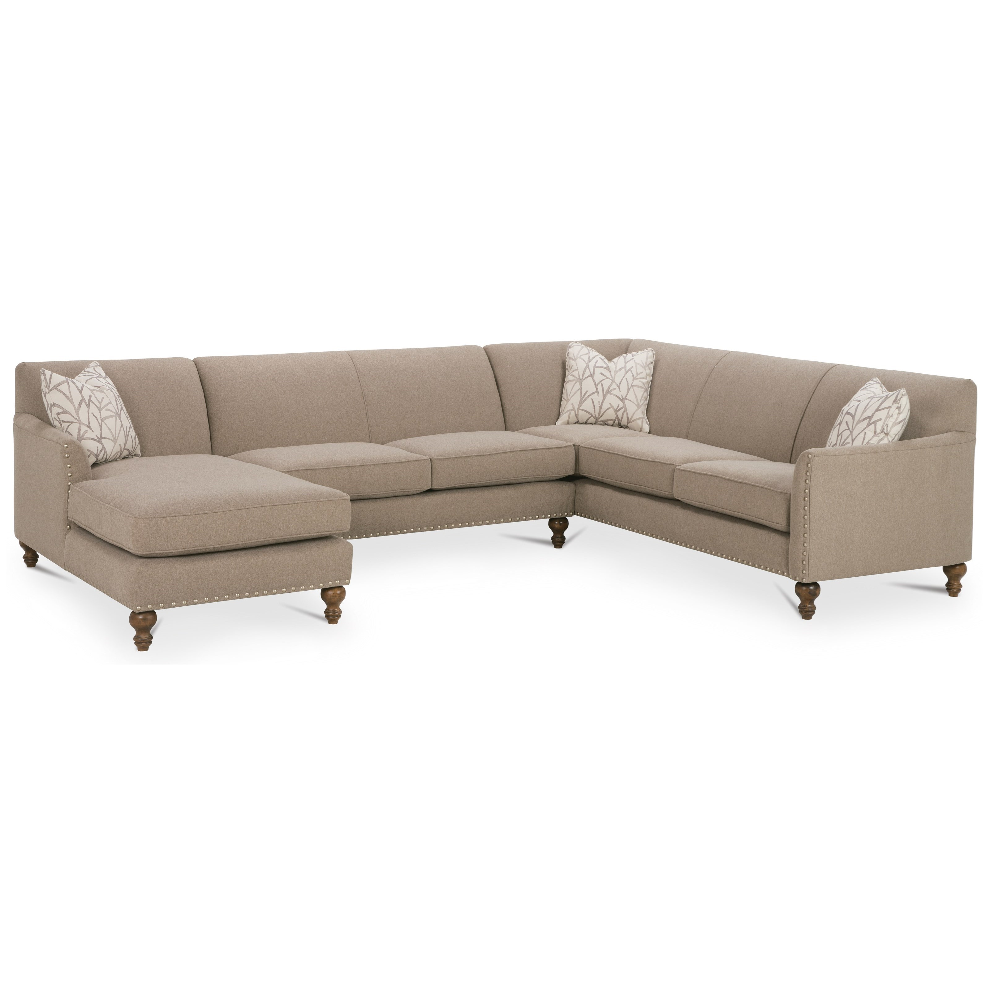 Rowe varick rxo customizable 3 piece sectional sofa w raf for 3pc sectional with chaise