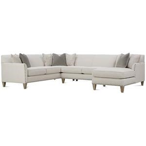 Rowe Varick-RXO <b>Custom</b> 3 Pc Sectional w/ RAF Chaise