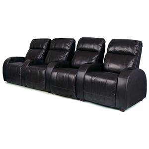 RowOne by Jasper Cabinet Marquis Home Entertainment Seating 4-Piece Theater Seating