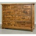 Ruff Sawn Adirondack 9 Drawer Dresser - Item Number: ADKD4356