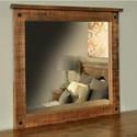 Ruff Sawn Adirondack Mirror - Item Number: ADKM3236