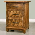Ruff Sawn Adirondack 3 Drawer Nightstand - Item Number: ADKN2230
