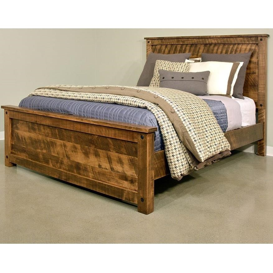 Ruff Sawn Adirondack Queen Bed - Item Number: ADKQ5466