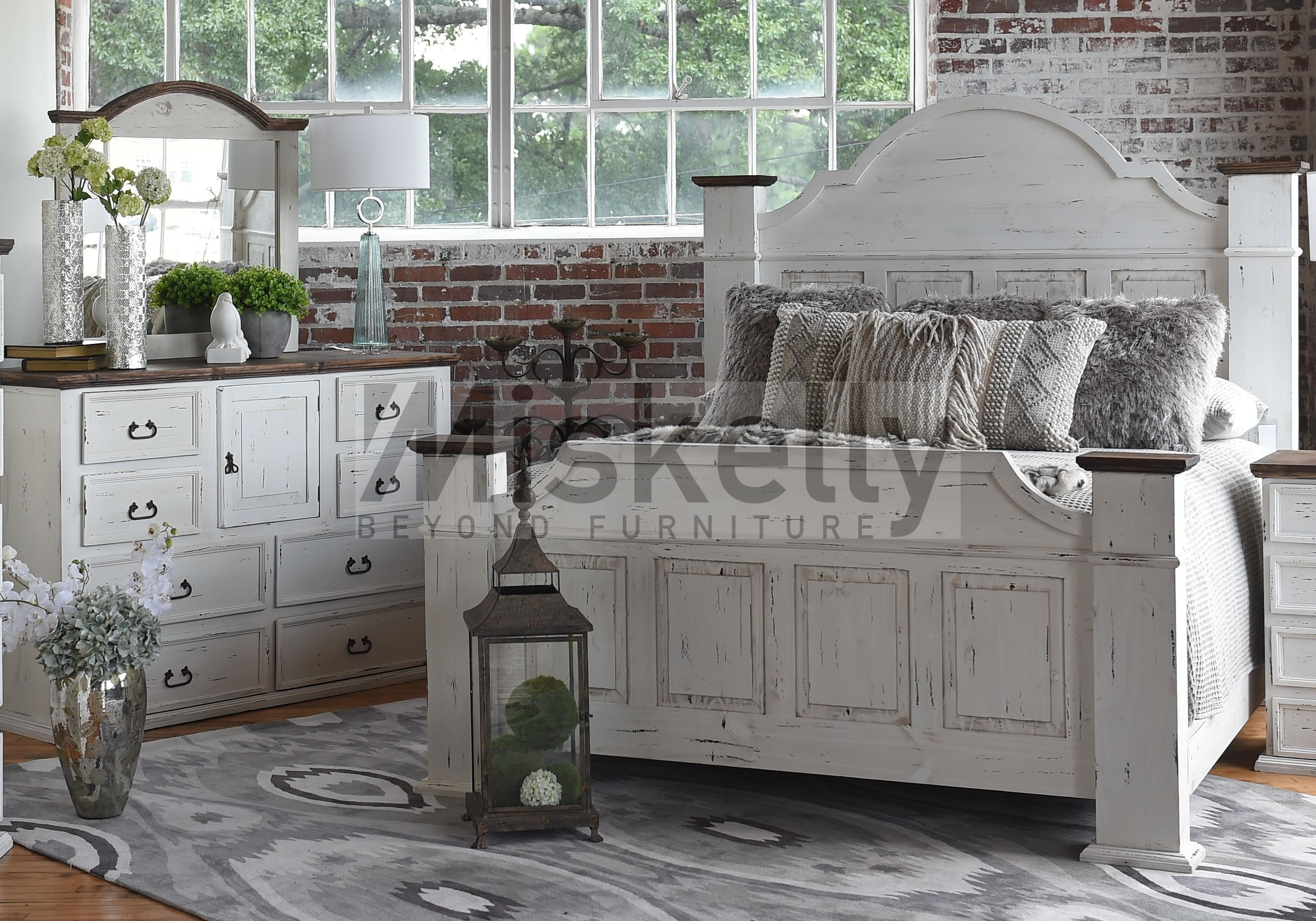 King Bed, Dresser and Mirror