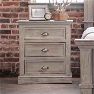 Rustic Imports Fifth Ave Three Drawer Night Stand