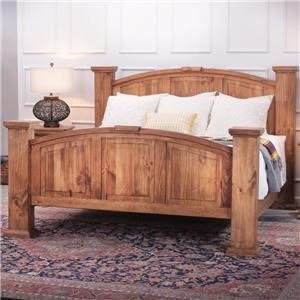 Rustic Imports Rustic Mansion Queen Solid Pine Bed