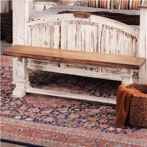 Rustic Imports Rustic Mansion Solid Pine Bench