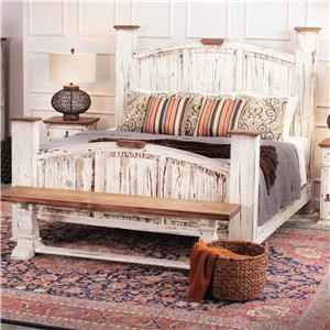 Rustic Imports Rustic Mansion King Solid Pine Bed