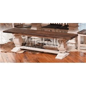 Rustic Imports MES2 - WHITE Trestle Bench