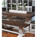 Rustic Imports MES2 - WHITE Trestle Table - Item Number: MES2MOB1+B2