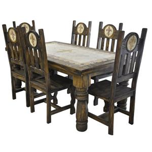 Rustic Specialists Antique Orleans 7PC Dining Table