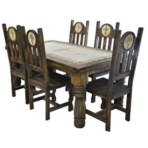 Rustic Specialists Antique Orleans 5PC Dinning Table