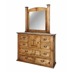 Rustic Specialists Cross Cross Dresser/Mirror