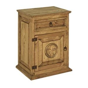 Rustic Specialists Texas Star Texas Star Left Door Nightstand