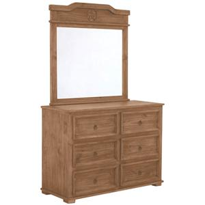 Rustic Specialists Texas Star Mesquite Dresser and Mirror