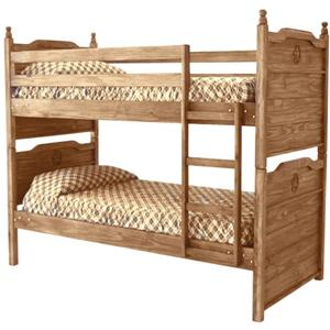 Rustic Specialists Texas Star Mesquite Bunk Bed