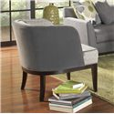 Sam Moore Cerro Contemporary Barrel Back Club Chair with Tapered Block Legs