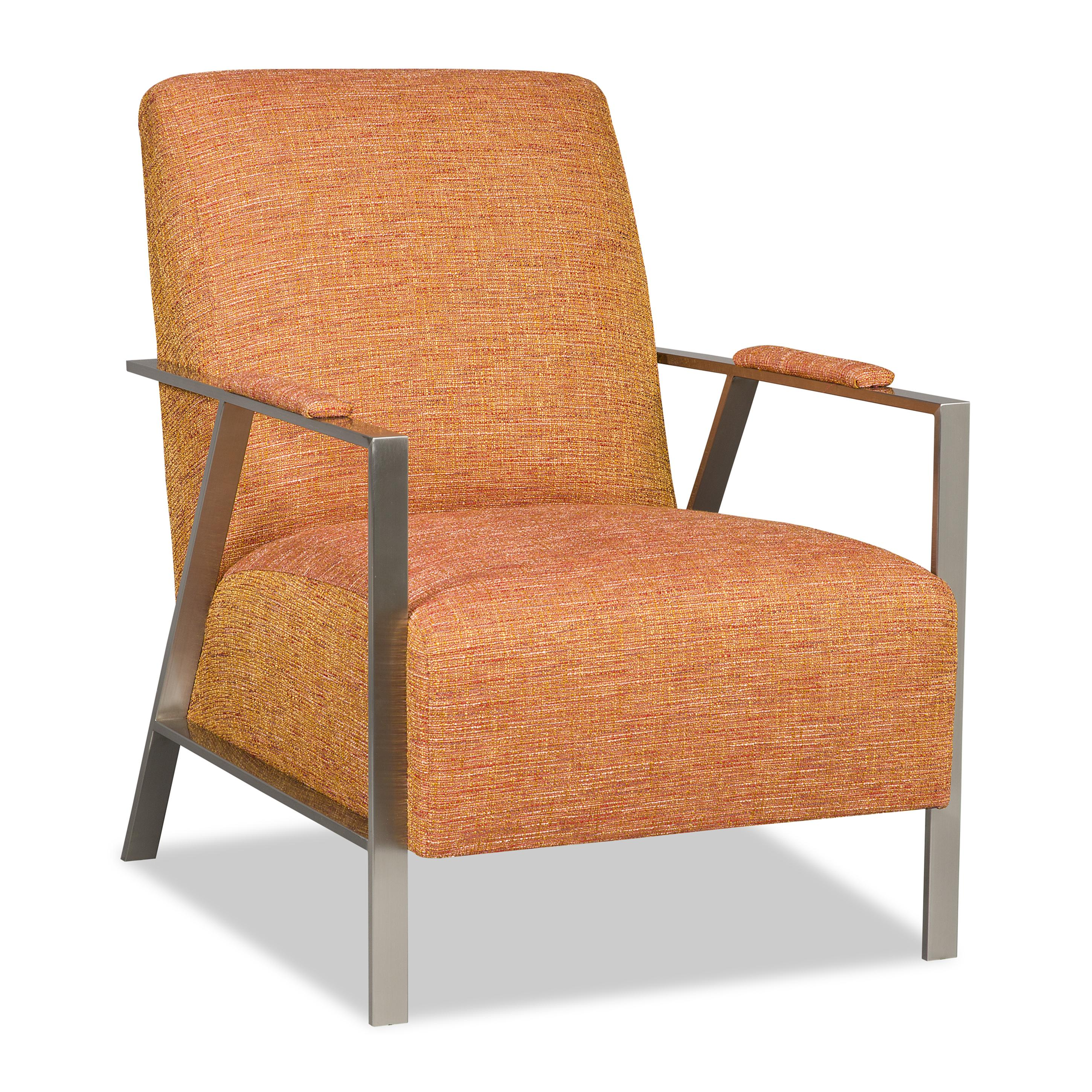 Sam Moore Nora Mid Century Modern Accent Chair with Stainless