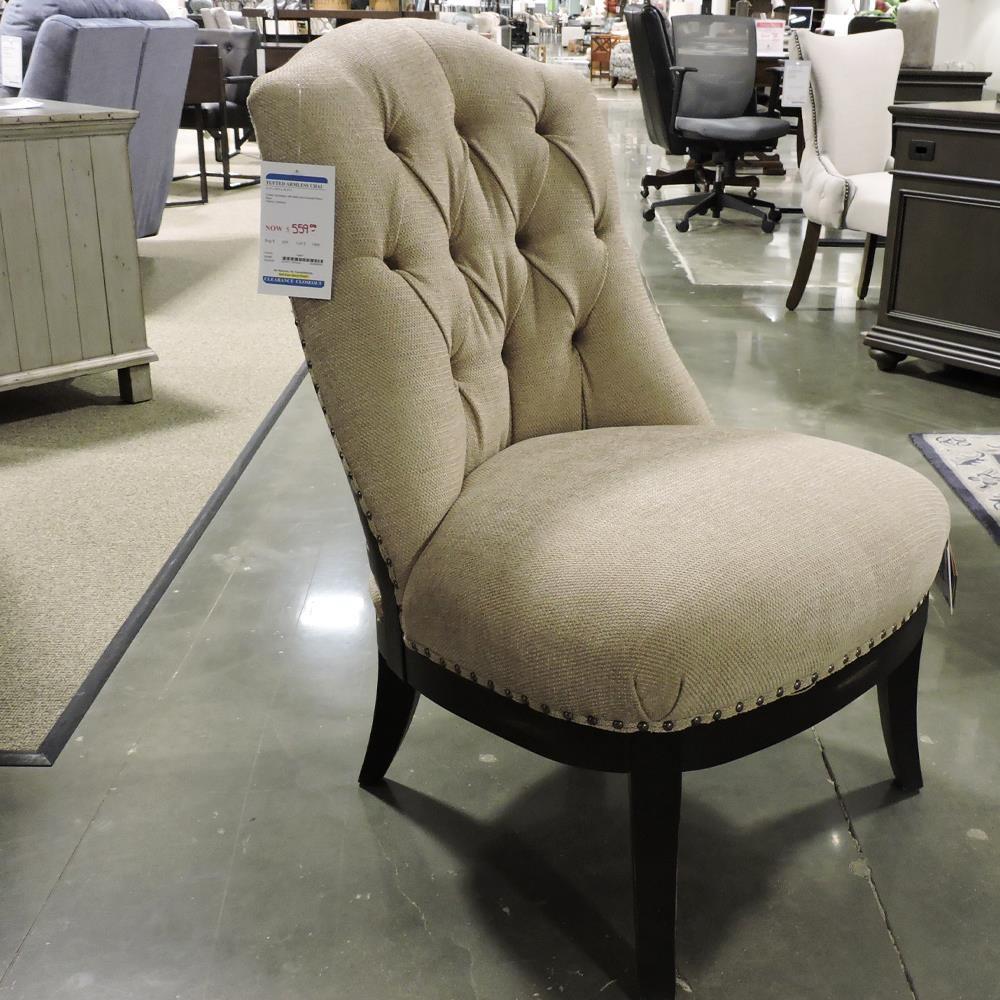Tufted Armless Chair