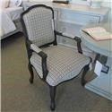Sam Moore Clearance Wood Trim Chair - Item Number: 161026773