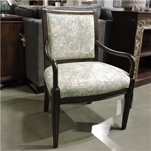 Upholstered Wood Trim Chair