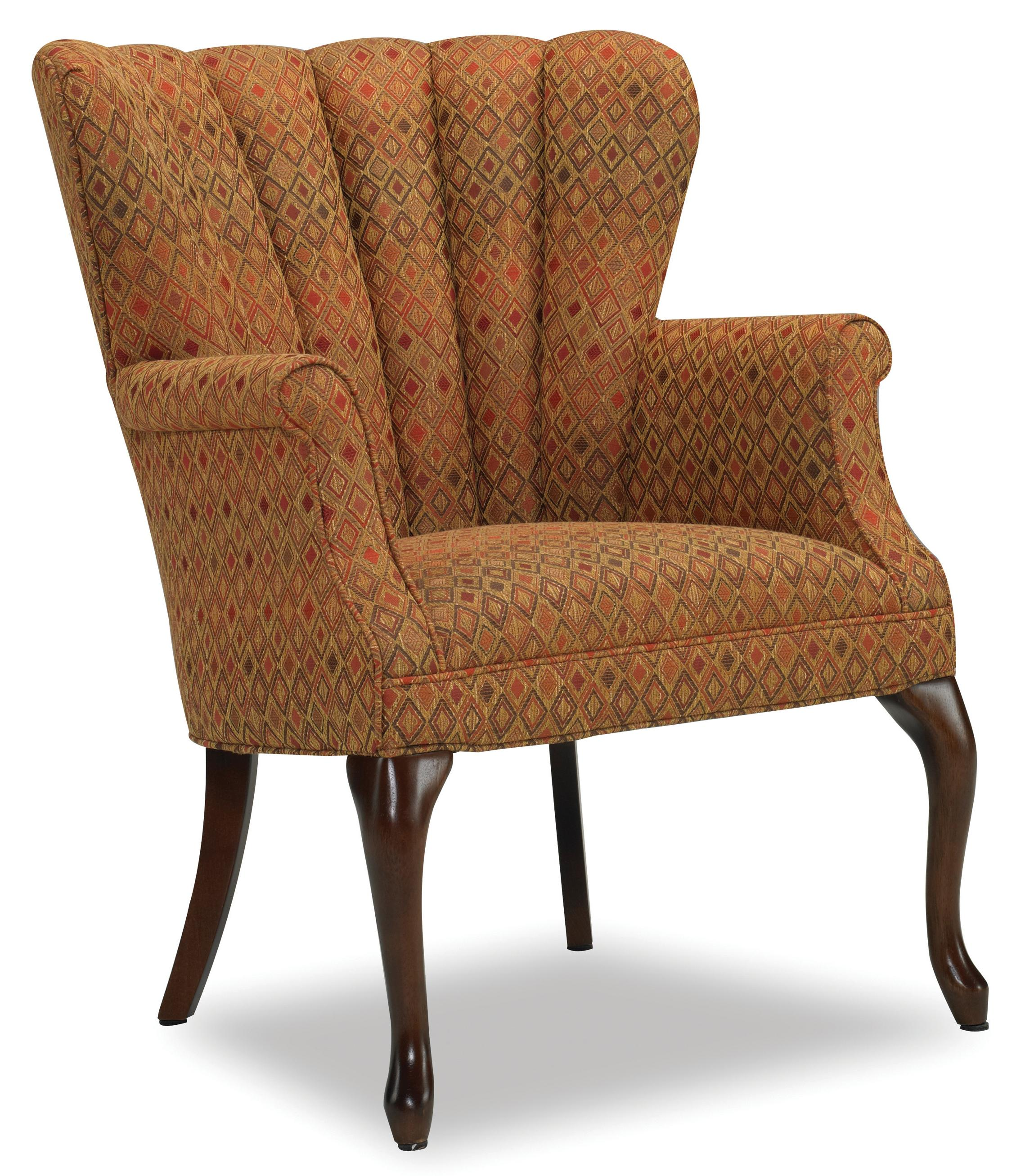 Annabelle Traditional Queen Anne Barrel Chair With Channel Back And  Cabriole Legs By Sam Moore