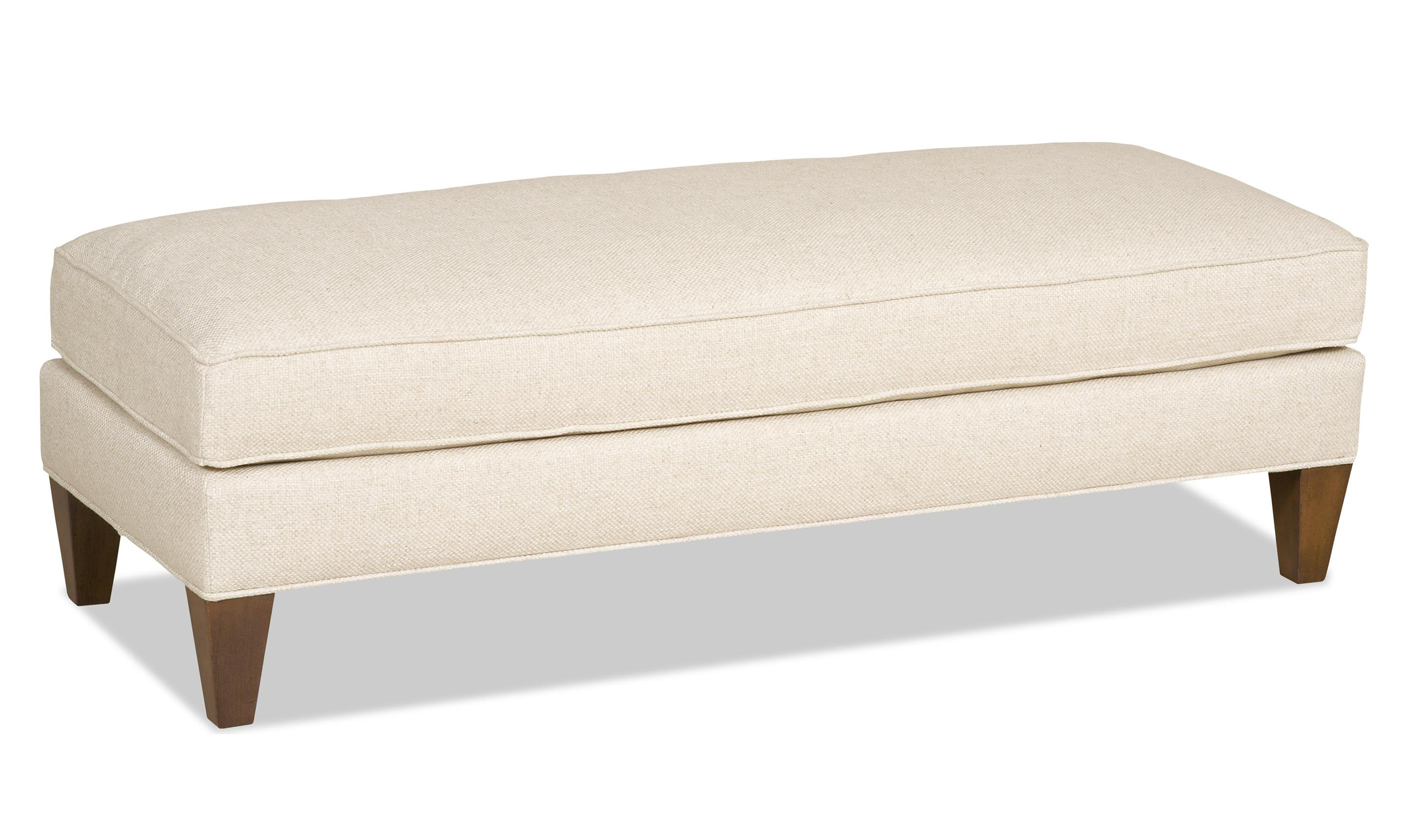 74aed5221a24 Sam Moore Arden Settee-Size Ottoman with Exposed Wood Legs ...