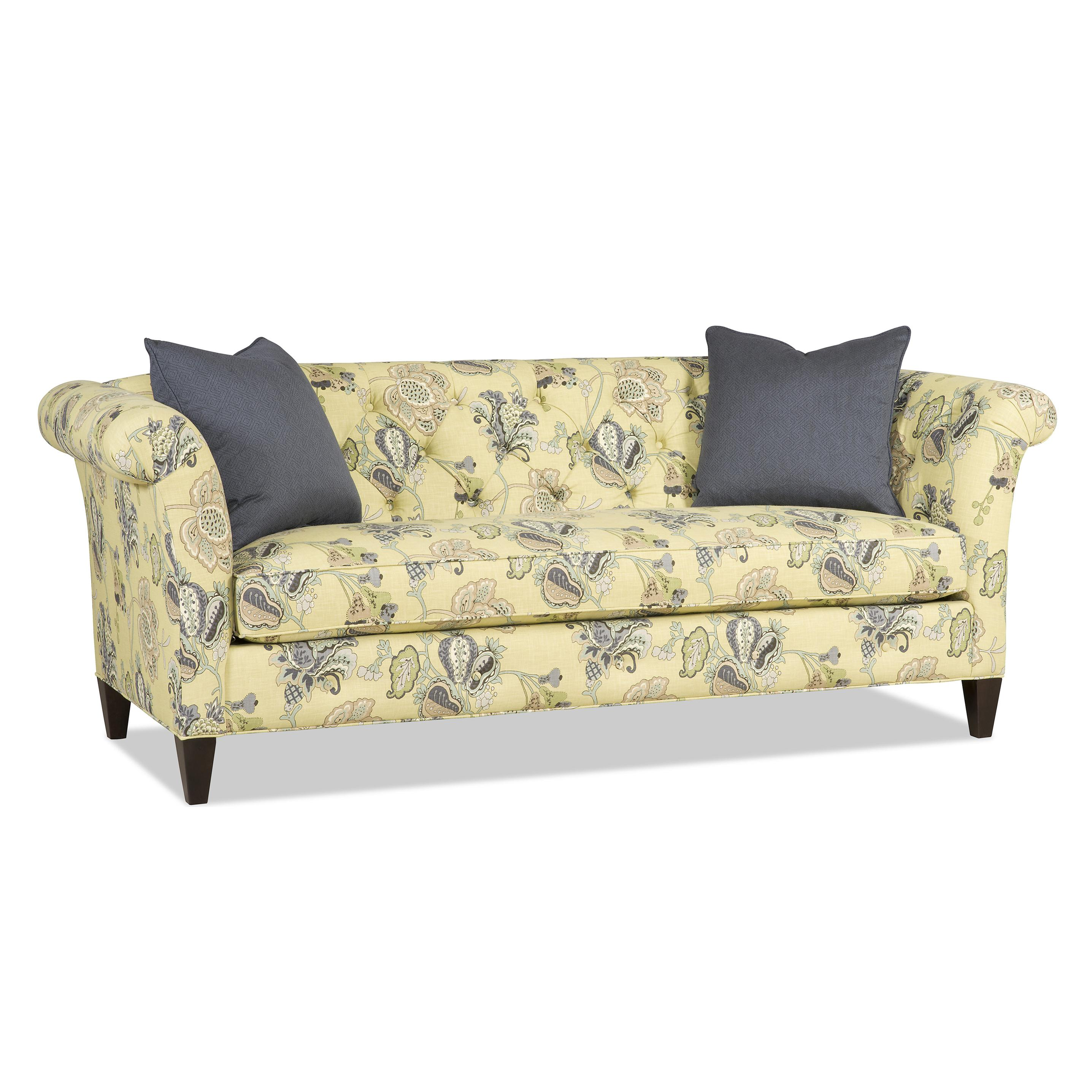 Sam Moore Astrid Traditional Bench Sofa With Tufted Back