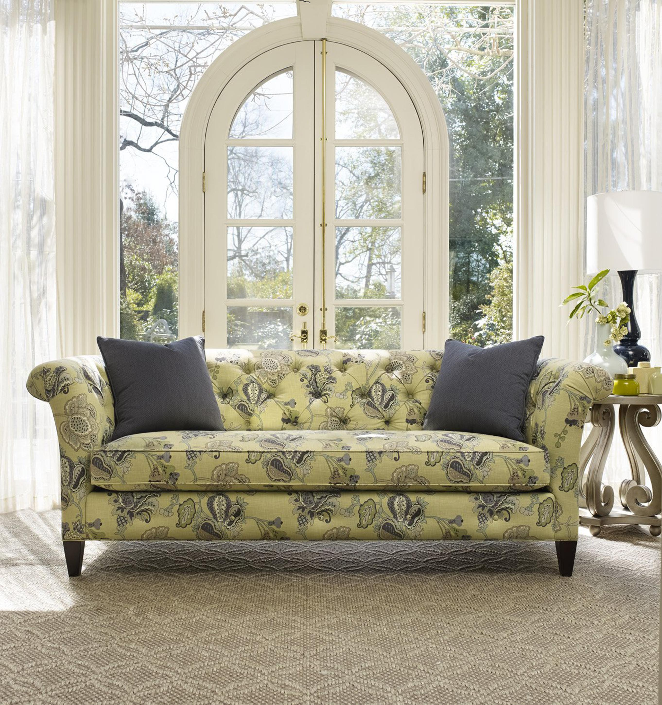 Sam Moore Mia Traditional Bench Sofa With Tufted Back