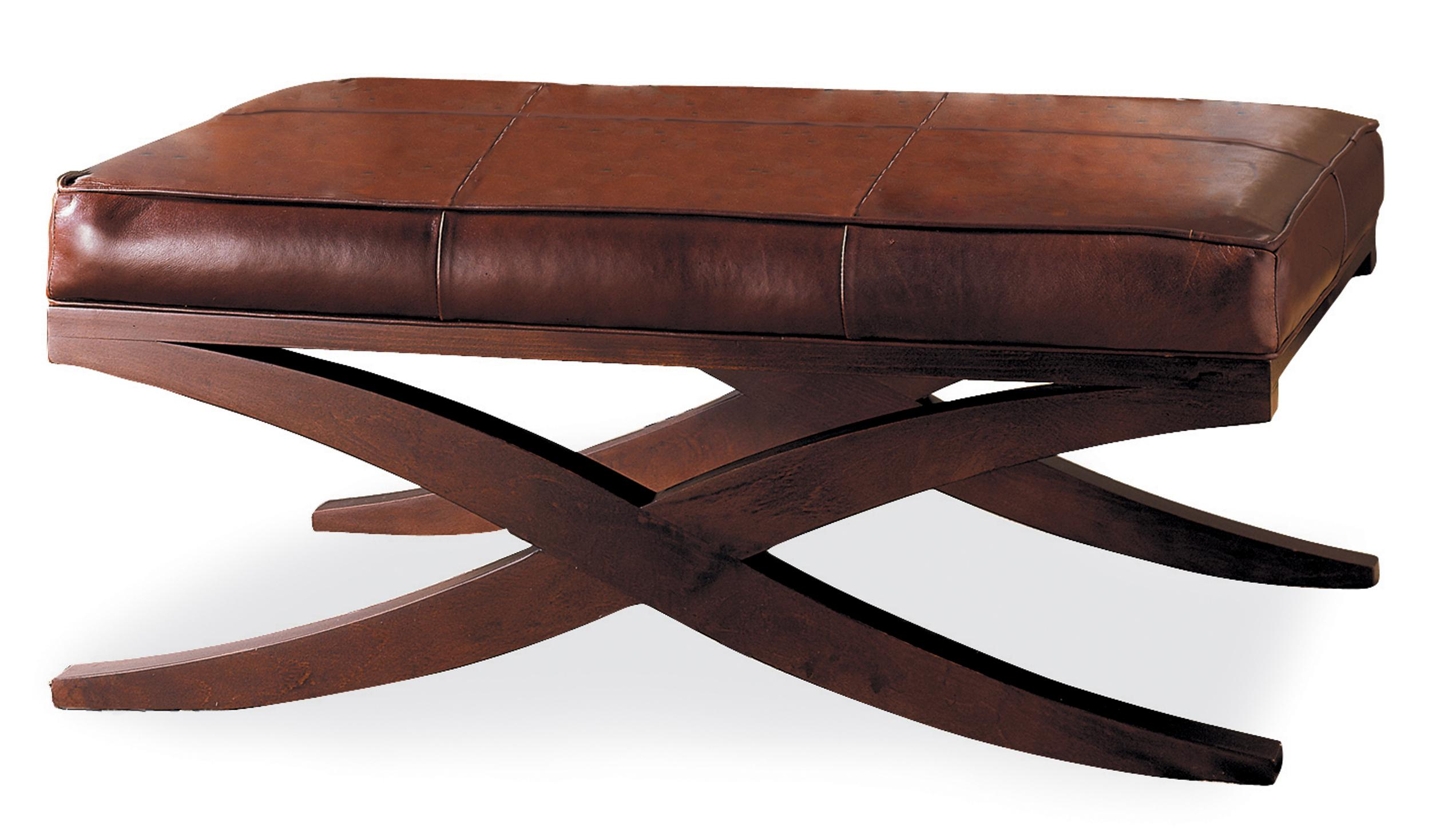 Axis Contemporary Upholstered Accent Bench With X Base By Sam Moore