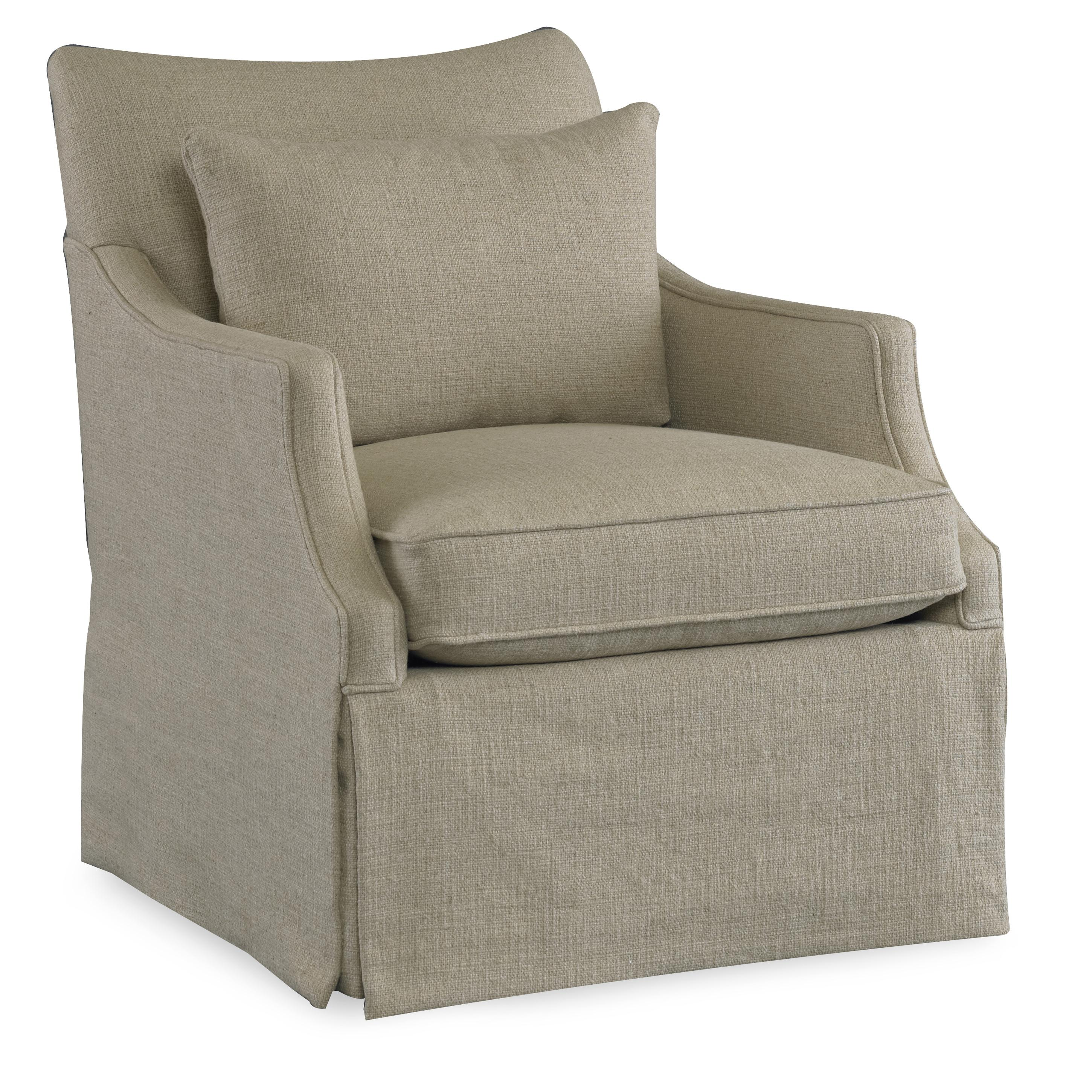 Sam Moore Azriel Casual Swivel Glider Chair With English