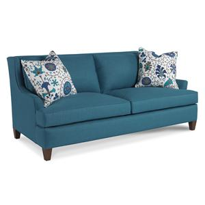 Barley Contemporary Two Over Two Sofa with Flared Arms by Sam Moore