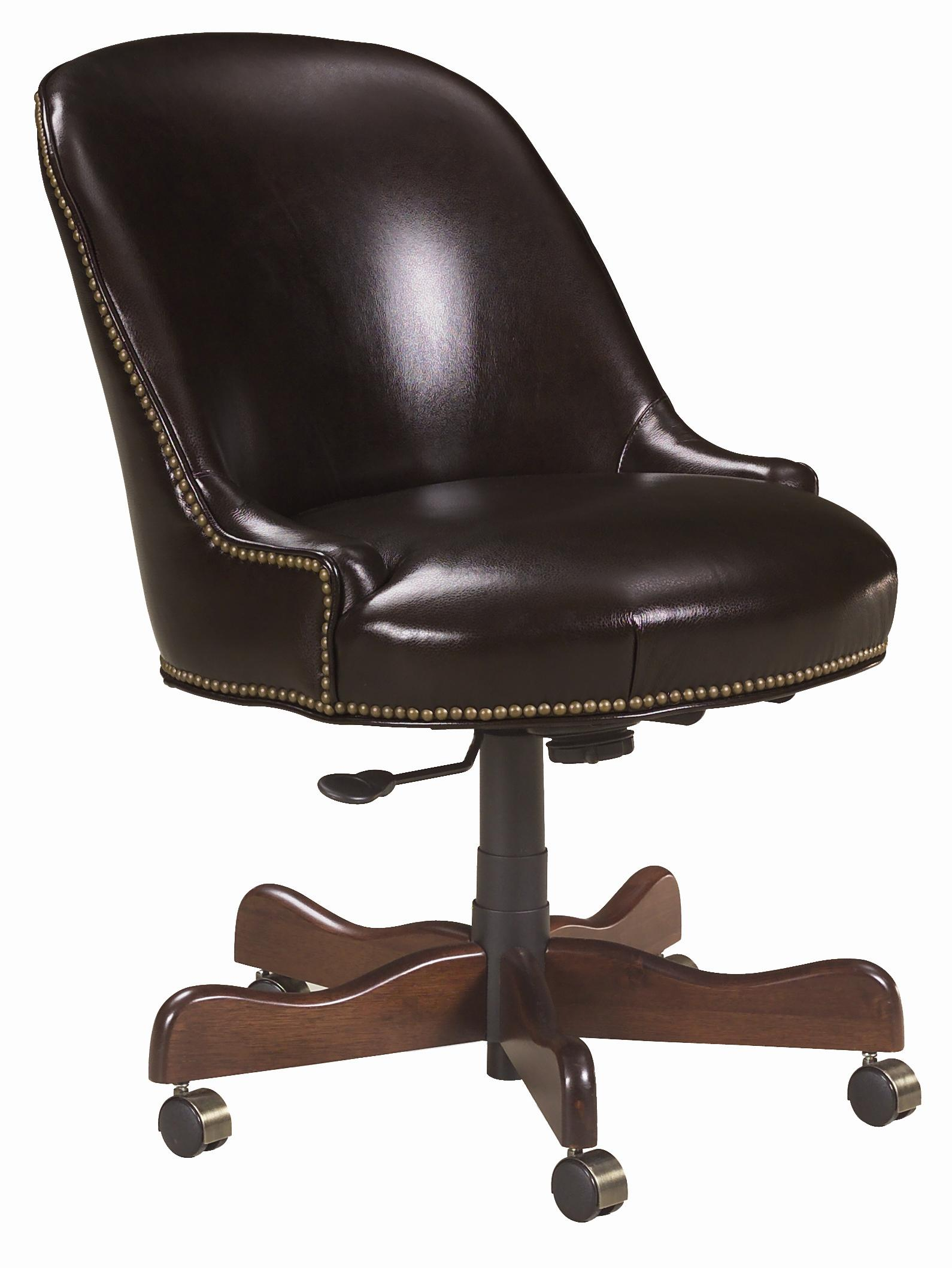 Blaire Traditional Leather Desk Chair By Sam Moore